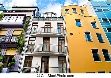 modern building - modern residental building with a lot of...