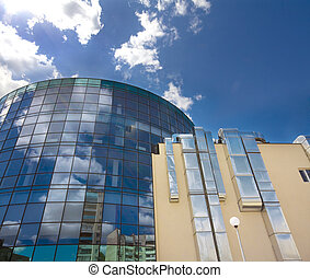 modern building with the sky