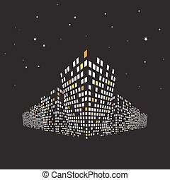 Modern buildings at night. Cityscape background