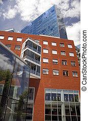 Modern buildings in Bilbao, Spain
