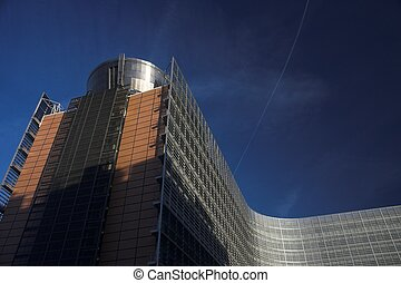 modern buildings, in brussels in the EU quarter