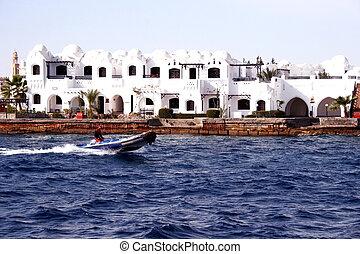 Modern buildings in Hurghada