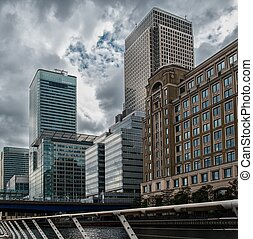 Modern buildings in London, England