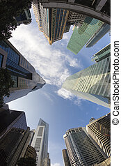 Modern Buildings in Singapore, Business Concept