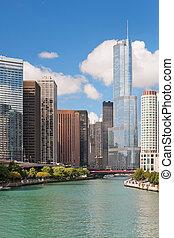Modern buildings in the Chicago Loop.