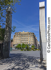 modern buildings in the city of Valladolid, Spain