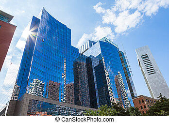 Modern buildings in The financial district of Boston - USA