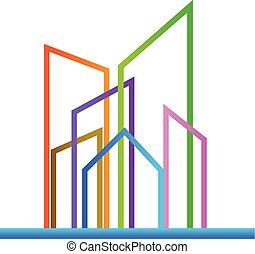 Modern buildings logo