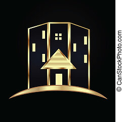 Modern buildings.Real estate logo