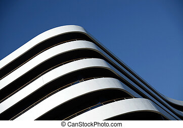 modern white luxury building with balcony detail