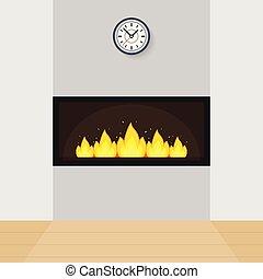 Modern Built-in Fireplace