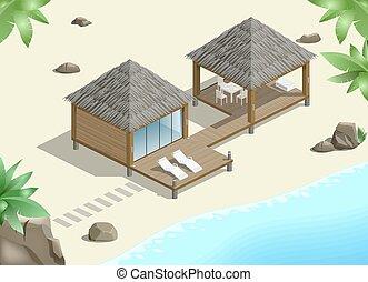 Modern bungalow on coast