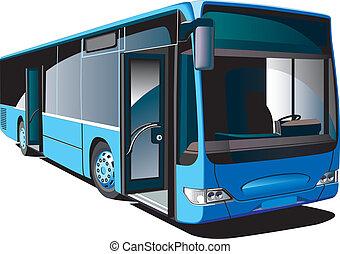 Modern Bus - Detailed vectorial image of modern european low...