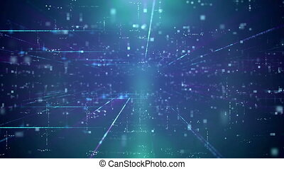 """""""Modern Business Blue Cyber motion Background"""""""