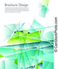 Modern business brochure cover template