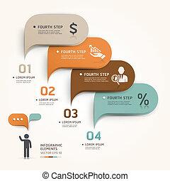 Modern business bubble speech.