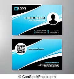 Modern Business card Design Template.