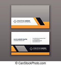 Modern creative and clean business card template with yellow chrome modern business card design with yellow and gray color colourmoves