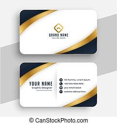 modern business card in golden style design