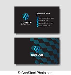 Modern business card layout background template