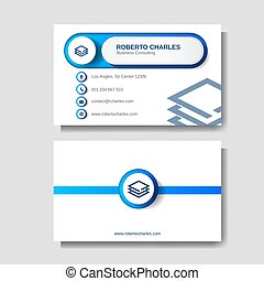 Modern Business card layout template