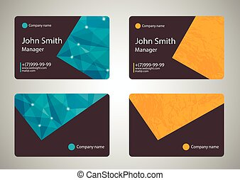 Modern Business-Card Set.