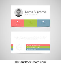 Modern business card template with flat user interface vectors modern business card template with flat user interface colourmoves
