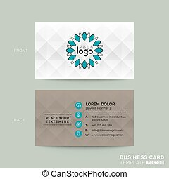 business card with grey pattern background