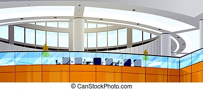 Modern Business Center Office Building Working Space Meeting Hall Interior