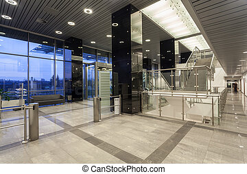 Modern business centre - Interior of modern and spacious...