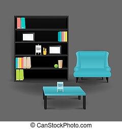 Modern Business conversation room mockup template. Vector.