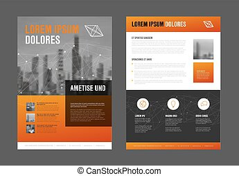Modern business corporate brochure flyer design template -...