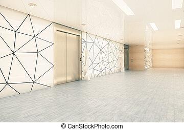 Modern business corridor