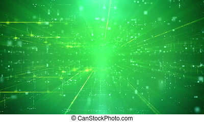 Modern Business Green Cyber motion Background