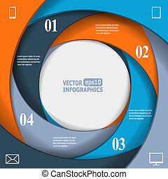 Modern business infographic banner
