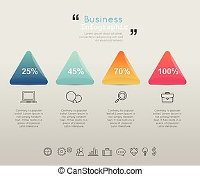 Modern business infographic Vector illustration.