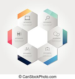 Modern business infographic Vector illustration