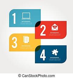Modern business infographic Vector illustration