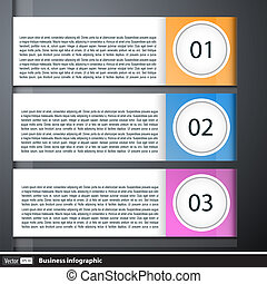 Modern business infographic with text