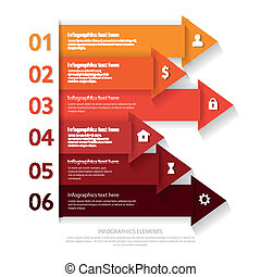 Modern business infographics abstract arrows.