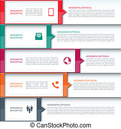Modern Business Infographics Options Template. Vector illustration