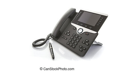 Modern Business Office IP Telephone on a white background