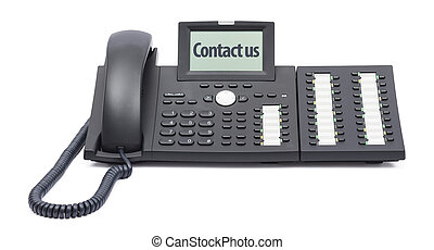 modern business phone on white background