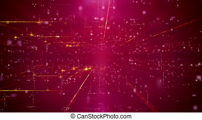 Modern Business Red Cyber motion Background