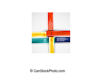 Modern business ribbon background
