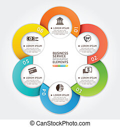 Modern business service circle. - Modern business service...