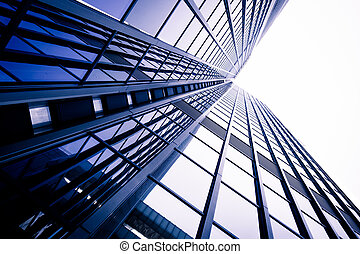 modern business skyscrapers. Office building close up. ...