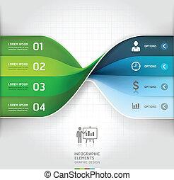 Modern business spiral infographics