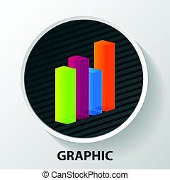 Modern business steps to grow chart and graph options banner. Vector illustration. Abstract digital illustration with lines.