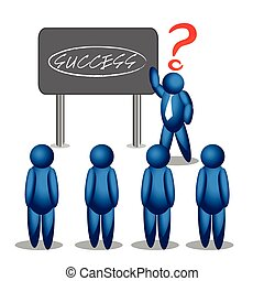Modern business teachers giving a lecture or presentation. success strategy.illustration in vector format